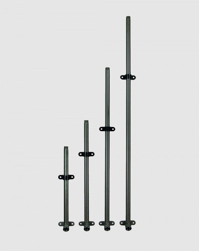 Tuyaux inox 1 sortie 38 cm